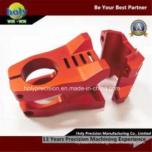 Красный анодированный алюминий части CNC подвергая механической обработке для мотоцикла