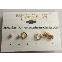 Simple Geometric Shapes a Set of Earrings Fashion Jewelry