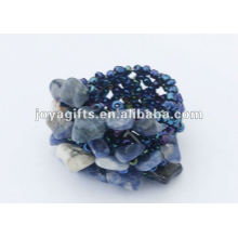Sodalite Chip Stone Stretch Seed Perles de verre Ring