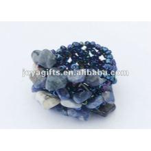 Sodalite Chip pedra esticar sementes contas de vidro anel