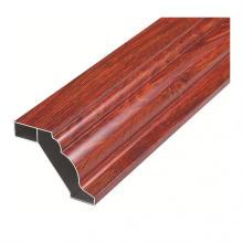 Perfis de guarda-roupas de móveis de alumínio com grãos de madeira
