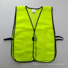 Gilet de sécurité en mousse jaune fluorescent avec fermeture velco