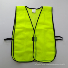 Fluorescent yellow mesh safety vest with velco closure