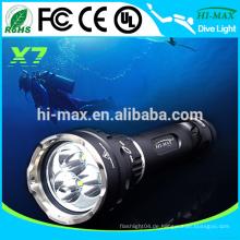 3 * cree xm-l T6 3500 Lumen Professionelle magnetische Schalter Tauchen Taschenlampe