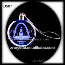 Ornamento do diodo emissor de luz do cristal do laser K9