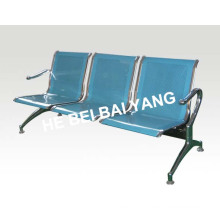 (D-8) Plastic-Sprayed Waiting Chair with Punched Steel Plate
