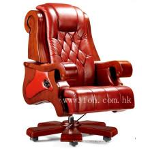 Chaise de bureau en bois de qualité supérieure en bois véritable Mobilier de bureau luxueux (FOHA-05)