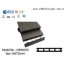 Plancher de bois franc machiné par 146 * 23mm avec le matériel composé en plastique en bois