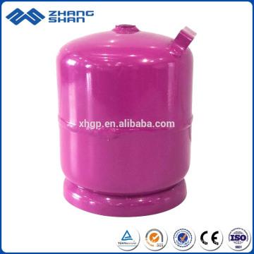 Exportation vers le Nigéria 3kg petite bouteille de gaz GPL à prix compétitif