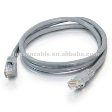 15ft-gray-standard boot-UTP Cat5e cable 4 pair