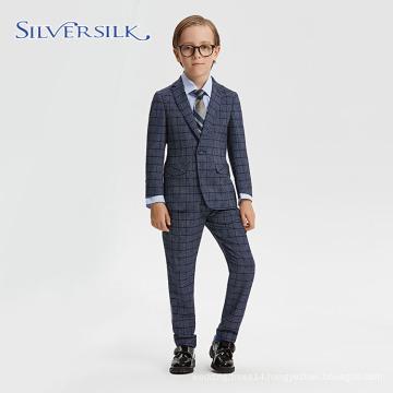 Classical Plaid Children Dress Suit Party Blazer Boys