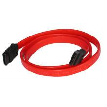 Cable de alimentación plana de 24 pulgadas Red Serial ATA