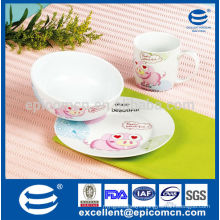 3 pcs porcelain kids breakfast set for daily use                                                                         Quality Choice
