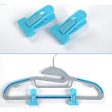 T -Type Blue Hanger Clips for Flocked Hangers