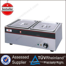 Shinelong factory outlet wholesale price 2-Pan food warmer bain marie with good effect of heat insulation