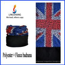 LINGSHANG cheap custom bandana printing bandana scarf polar fleece multifunctional bandana