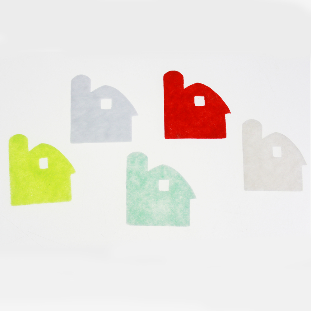 Felt house sticker