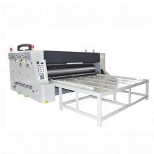 chain feeder four-color flexo printer and slottr machine, semi automatic chain feeding printing slotting die cutter