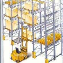 Warehouse Storage Pallet Rack Forklift Drive In Freezer Use Q345 Steel Cold Storage Racking System