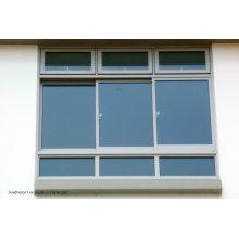 Индивидуальные тройные дорожки Скрытые ролики Алюминиевые раздвижные двери и окна