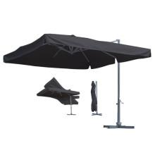 3m Aluminium Außen Garten Patio Umbrella mit Halterung