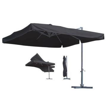 Parasol de jardin en aluminium de jardin de 3 m avec support