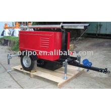 Lovol 60Hz generador diesel de remolque con dos ruedas de garantía de un año