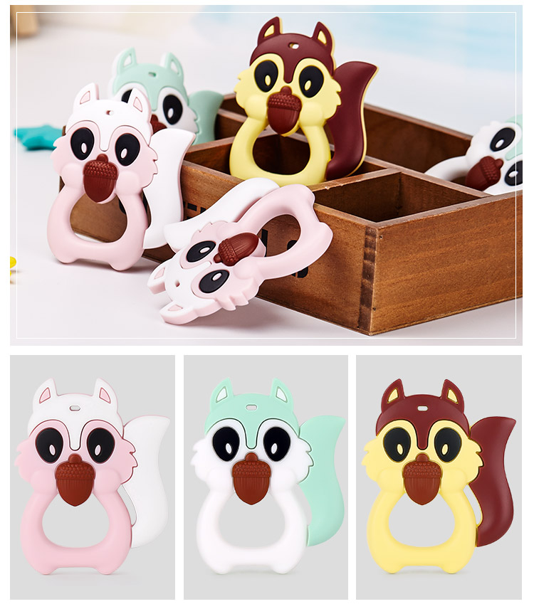 squirrel teething toys