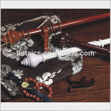 Plastic curtain rod finial and bracket for curtain rod factory from china