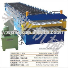 Colored double panel forming machine