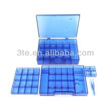 Пластиковая оптическая ящик для инструментов для хранения винтов и носовых прокладок