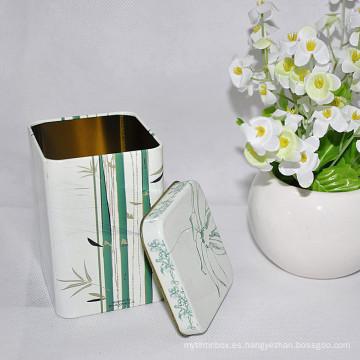 2016 Caja caliente de encargo de la lata del té de la forma rectangular de la venta