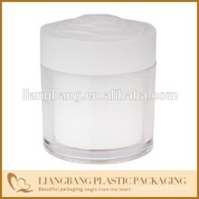 Pot rond et couvercles, pot cosmétique à trois dimensions et nouveau récipient acrylique acrylique