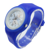 Small Round Sport Watch with Silicone Coating