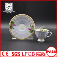 P & T фарфоровые кофейные чашки и блюдца, красочные деколи и чашки