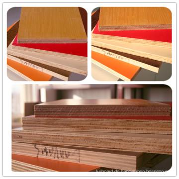 Higt Qualität 18mm weißes Melamin stellte Sperrholz mit gutem Preis gegenüber