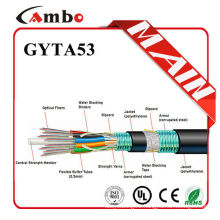 Factory price for telecom projects steel tape double armoured multi pairs SM/MM fibre optic installation guide