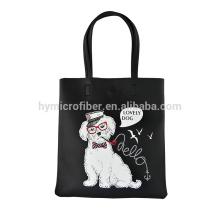 Высокое качество логотип печатных женщин кожаная сумка