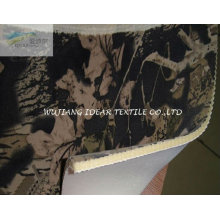 Sponge and Printed artificial Suede Bonded Fabric for cushion