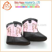 Pretty girls prewalker chaussures en cuir outdoor baby cute boots