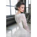 Latest Gowns Alibaba Elegant A Line Wedding Dresses Vestidos de Novia With Long Sleeve 2016 LWA06