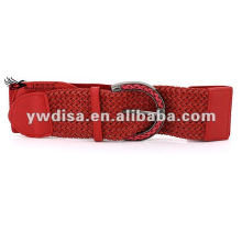 Cinto elástico de couro PU exclusivo das mulheres vermelhas