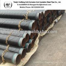 2PE Покрытый и цементный раствор, облицованный сварной стальной трубой / Антикоррозионная труба