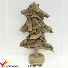 Peças de abeto de árvore de Natal Europeu de madeira por atacado Decor Home rústico