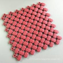Azulejos de vinilo blando antibacterialmente resistentes a los rayos UV Área húmeda Mat Antique Pink