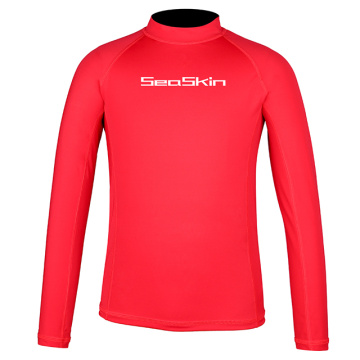 Seaskin Boys Langarm Rash Guard Shirts
