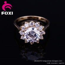 China Wholesale Gold Plated CZ Fashion Rings