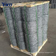 Alibaba China 1.8mm 2.0mm 2.5mm galvanized twisted fence wire barbed wire per roll