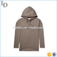 Homens hoodies longo t-shirt ventile vestido macio para homens