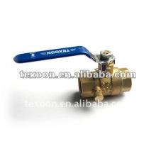 NPT ball valves fully forged threaded full port brass drain valve